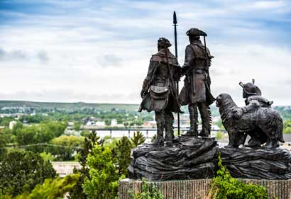 Lewis and Clark Overlooking the Missouri River